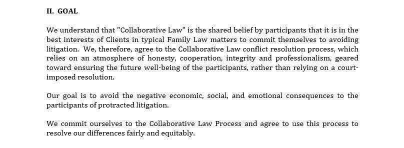 Sample Collaborative Divorce Participation Agreement